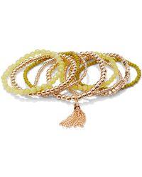 New York & Company - 5-piece Tassel-accent Beaded Bracelet Set - Lyst