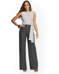 Lyst New York Company Lace Overlay Strapless Jumpsuit Black