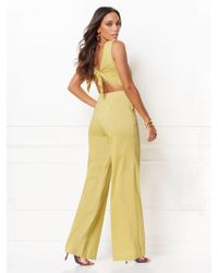 215937924f9 New York   Company - Trudie Tie-back Jumpsuit - Eva Mendes Collection - Lyst