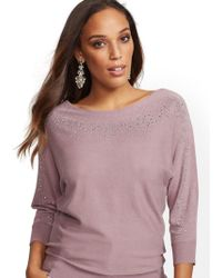 New York & Company - 7th Avenue - Shimmering Bateau-neck Sweater - Lyst