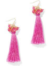 New York & Company - Linear Tassel Earring - Lyst