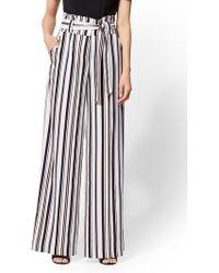 New York & Company - 7th Avenue Pant - Stripe Paperbag-waist Palazzo - Lyst