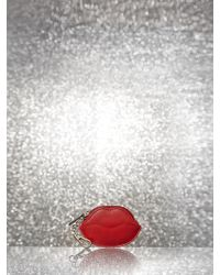New York & Company - Red Lips Coin Purse - Lyst