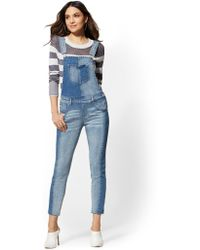 304b980a0 New York & Company - Overall Jeans - Wilderness Blue - Soho Jeans - Lyst