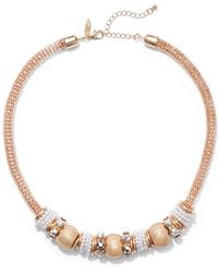 New York & Company - Faux-pearl Rondelle Necklace - Lyst