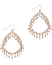New York & Company - Goldtone Teardrop Earring - Lyst