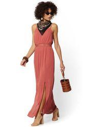 fd651b9b7e2 New York   Company - Crochet-trim Maxi Dress - Lyst