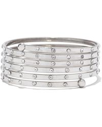 New York & Company - Sparkling Coil Bangle Bracelet - Lyst