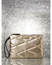 New York & Company - Metallic Quilted Pochette - Lyst
