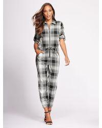 New York & Company - Gabrielle Union Collection - Petite Zip-front Jumpsuit - Lyst