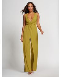 359c47f3388 New York   Company - Chartreuse Halter Jumpsuit - Gabrielle Union  Collection - Lyst