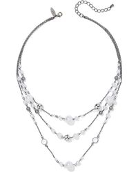 New York & Company - 3-row Faux-pearl Illusion Necklace - Lyst