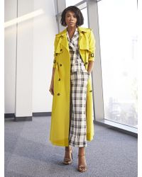 New York & Company - Chartreuse Trench Coat - Lyst