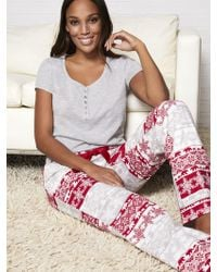 a1dfae3f00d New York   Company - 2-piece Fair Isle Pajama Set - Lyst