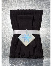 New York & Company - 2-piece Cable-knit Scarf & Gloves Gift Set - Lyst