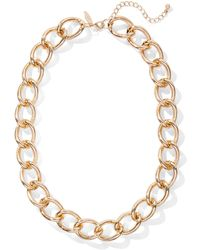 New York & Company - Goldtone Link Necklace - Lyst