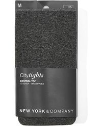 New York & Company Gray Control-top City Tights