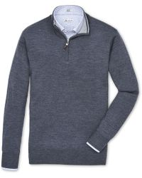 Peter Millar - Crown Soft Merino 1/4 Zip Sweater - Lyst