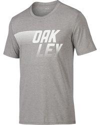Oakley - Athletic Heather Grey 50/50 Dash Tee - Lyst
