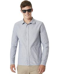 Oakley - Stone Gray Fs Oxford Shirt - Lyst
