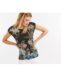 Oasis - Floral Placement Tee - Lyst
