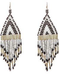 Oasis - Monochrome Seed Bead Earrings - Lyst