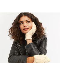 Oasis - Cream Pearl Hotfix Gloves - Lyst