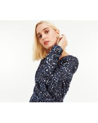 Oasis - Sequin Tinsel Wrap Dress - Lyst