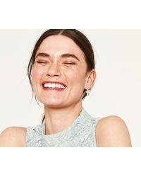 Oasis - Delicate Flower Earrings - Lyst