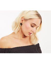 Oasis - Velvet Flower Earrings - Lyst