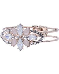 Oasis - Hinged Jewelled Bracelet - Lyst