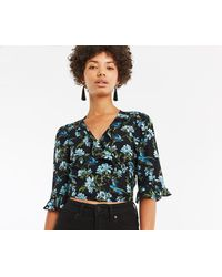 Oasis - Reloved Wrap Top - Lyst