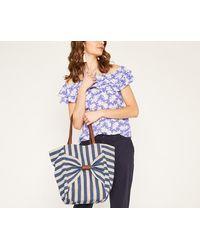 Oasis - Bow Stripe Shopper - Lyst