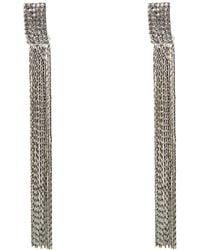 Oasis - Sparkle Tassel Earrings - Lyst
