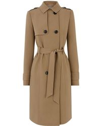 2638277aac13 Oasis Collarless Coat in Blue - Lyst