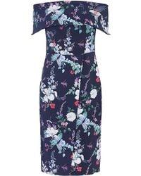 d527d2da2505 Oasis High Neck Ditsy Dress in Blue - Lyst