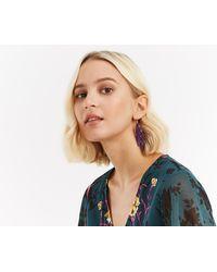 Oasis - Petal Leaf Drop Earrings - Lyst