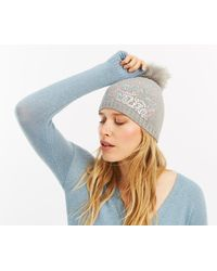 Oasis - Sequin Scatter Beanie - Lyst