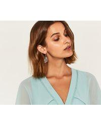 Oasis - Delicate Leaf Earrings - Lyst