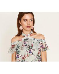 Oasis - Pom Pom Fabric Earrings - Lyst