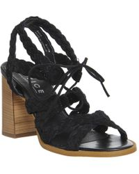 Office | Axis Plait Strap Flare Heel Sandals | Lyst