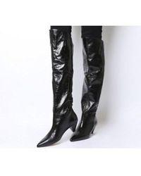 Office Kimono- Cone Heel Knee Boot