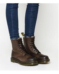 Dr. Martens - Serena 8 Eyelet Shearling Boot - Lyst