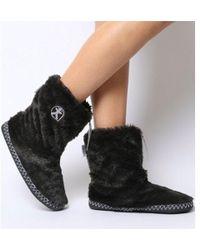 Bedroom Athletics - Marilyn Short Faux Fur Boot - Lyst
