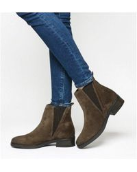 ebfe5e2b650 Office Gangway Square Toe Chelsea Boots in Brown - Lyst