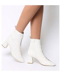 Office - Aloha- Lace Up Mid Block Boot - Lyst