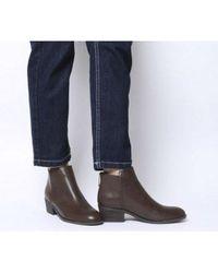 Office Able- Back Zip Block Heel Boot