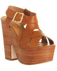Office - Sahara Cross Strap Platform - Lyst