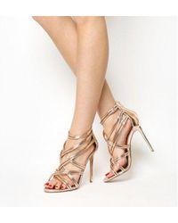 01c4f3377da6 Missguided Nadia Contrast Strappy Heeled Sandals In Black in Black ...