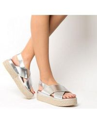 c499d6e9e4a Lyst - Inuovo Double Strap Wedge Sandals in White